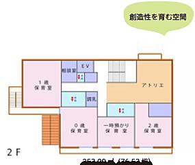 2F 253.00㎡(76.53坪)